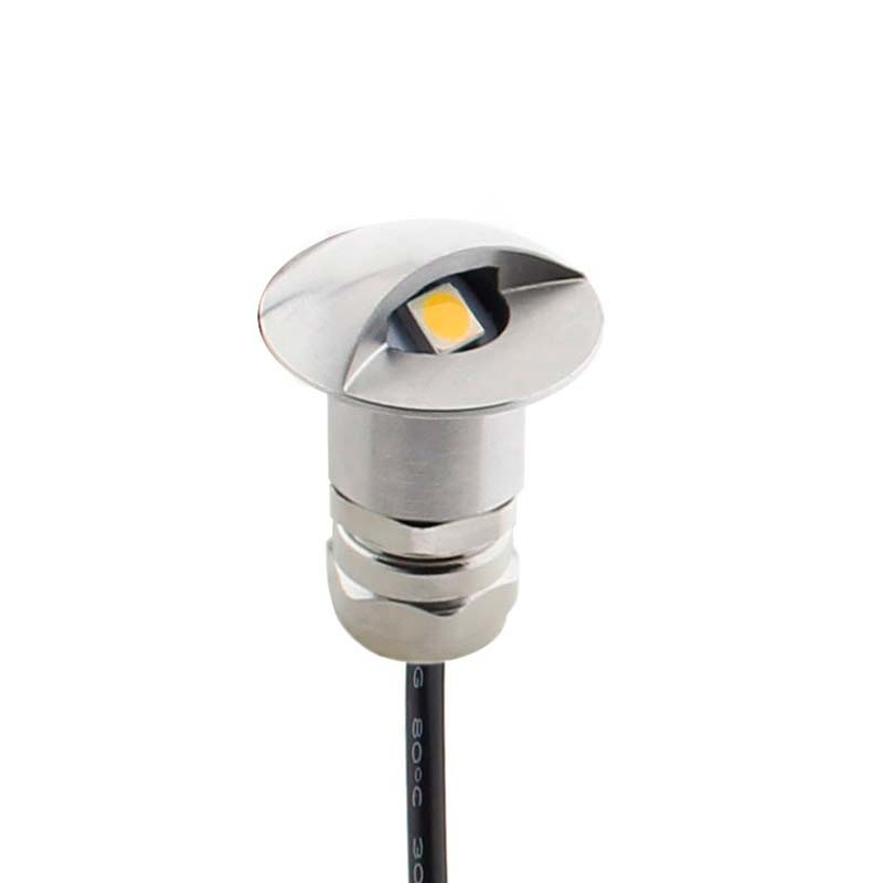 POD LED 1W, IP68, Blanco cálido